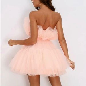 Baby Pink Tulle Tube Dress